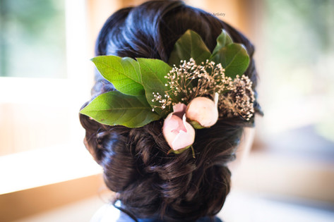 Beautiful updo for this bride