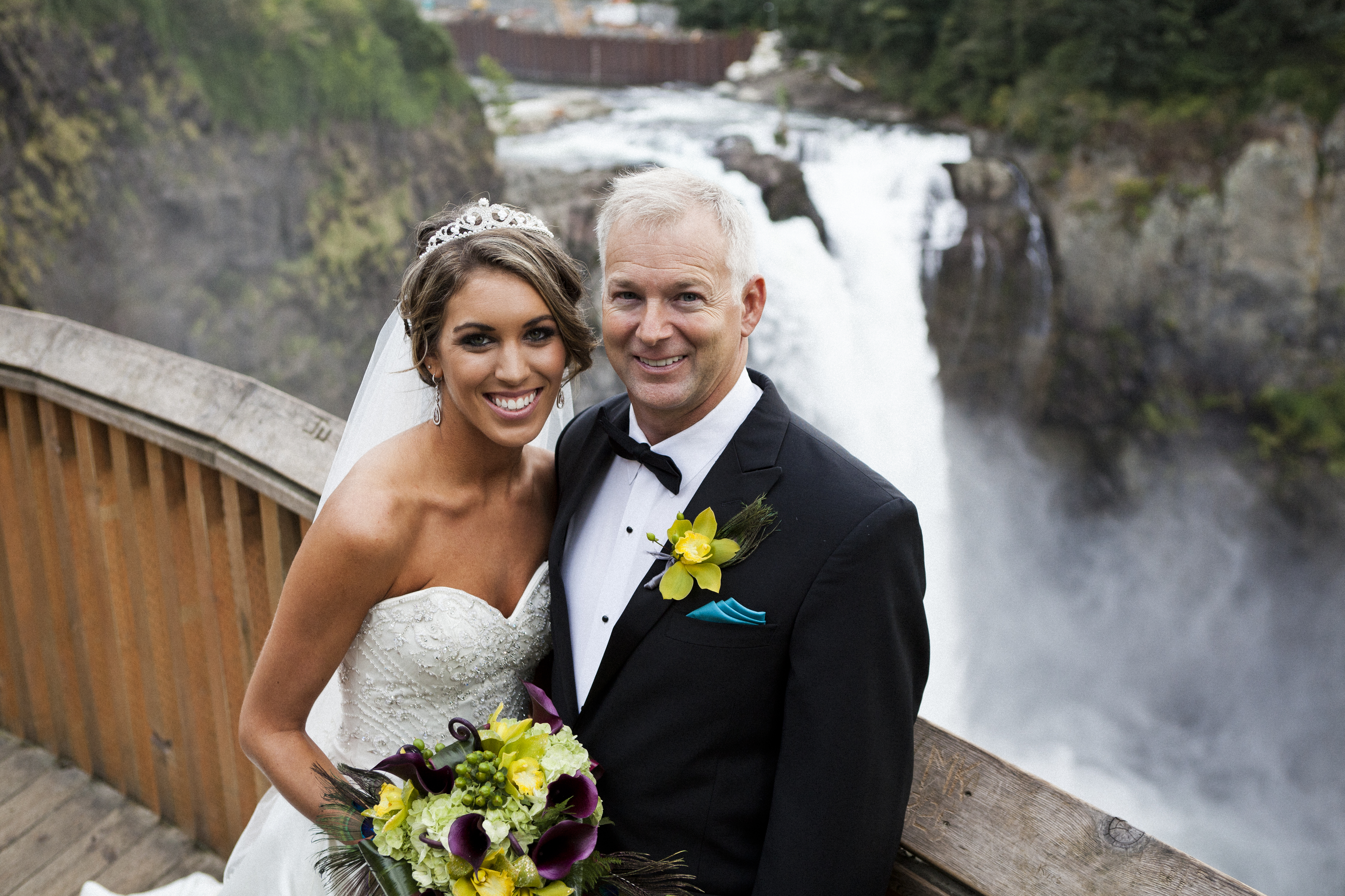 Snoqualmie Salish lodge bride