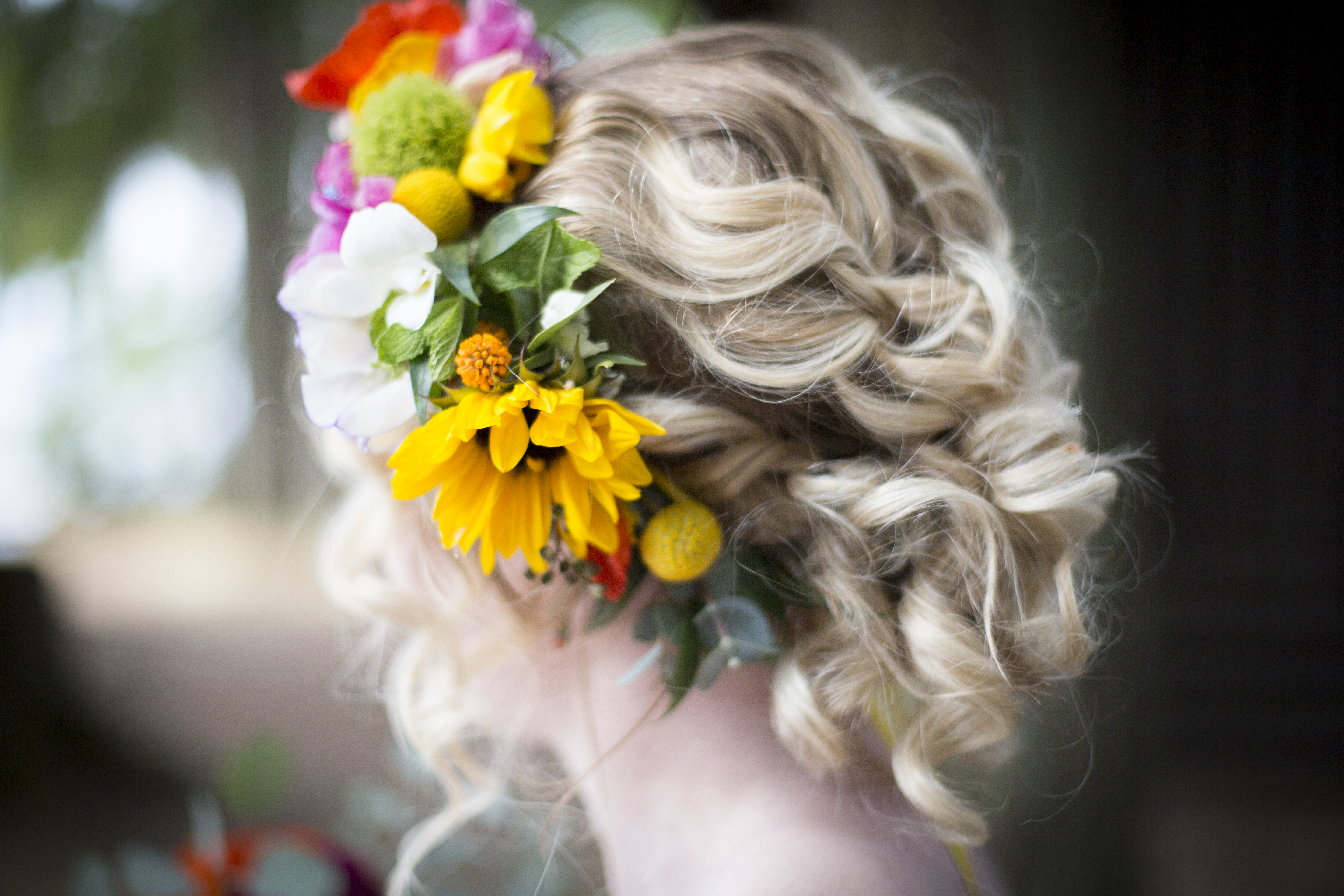 Curly updo by Lacey