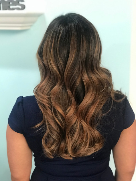 Kissed by caramel balayage