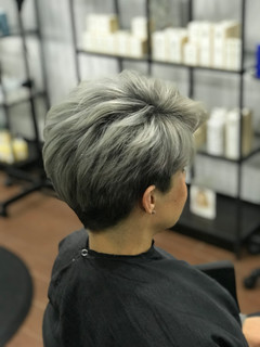 Pixie cut and color by lacey