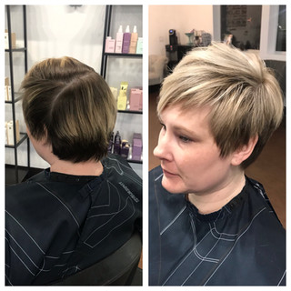 Before and After Color and pixie
