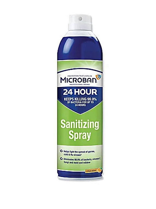 Microban® 24-Hour Disinfectant Sanitizing Spray, Citrus Scent, 15 Oz