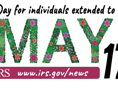 Tax Day for individuals extended to May 17