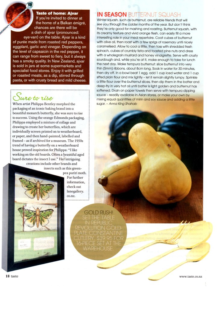 Taste magazine, 2009