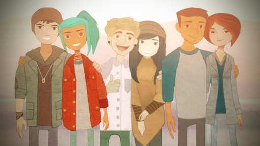 Jonas, Alex, Ren, Nona, Michael, Clarissa