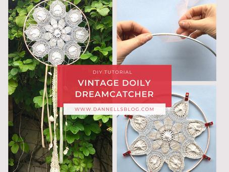 DIY Tutorial - Vintage Doily Dreamcatcher