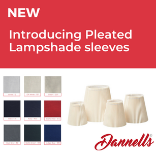 New Product - Introducing Pleated Lampshade Sleeves