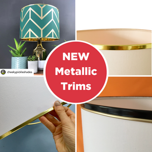 New Product – Metallic Profile Lampshade trims + how to apply them