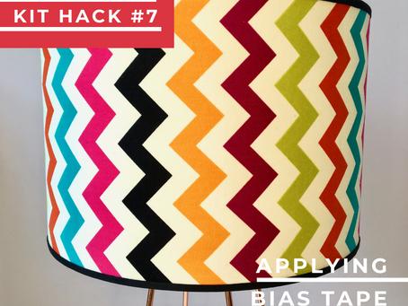 Lampshade Kit Hack #7 – Applying bias tape to a shade