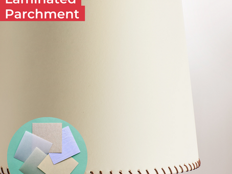 Lampshade Inspiration - How to use laminated parchments