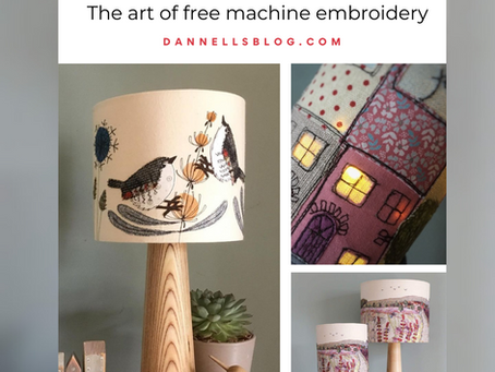 Lampshade Inspiration - The art of free machine embroidery