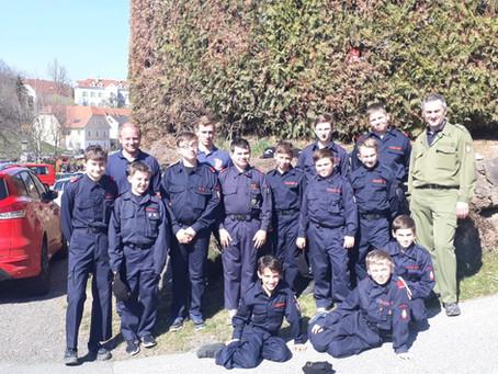 Wissenstest und Wissenstestspiel der Feuerwehrjugend des BFVGU in Nestelbach bei Graz