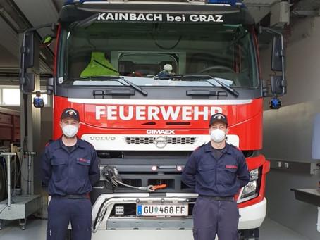 Gratulation an OFM Maximilian Brandstetter und OFM Jan Nagl