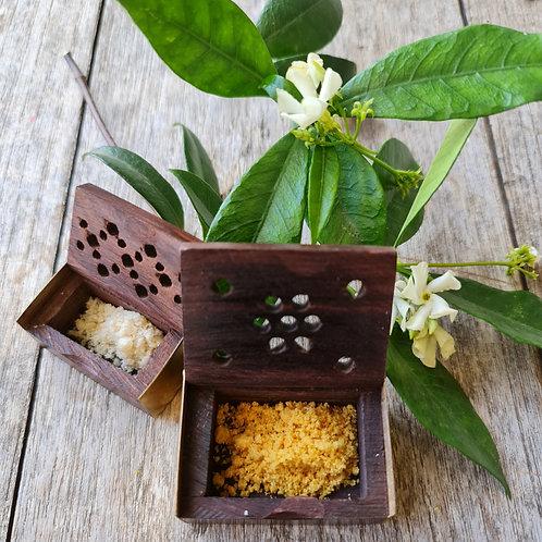 Eden Botanicals Hand Carved Rosewood Boxes 1gram & 2 gram