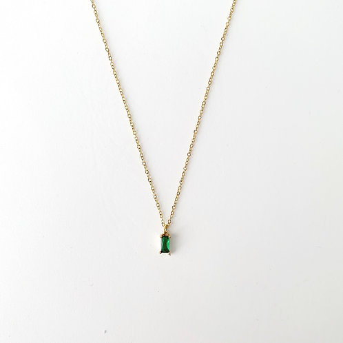 Single Tiny Emerald - Gold