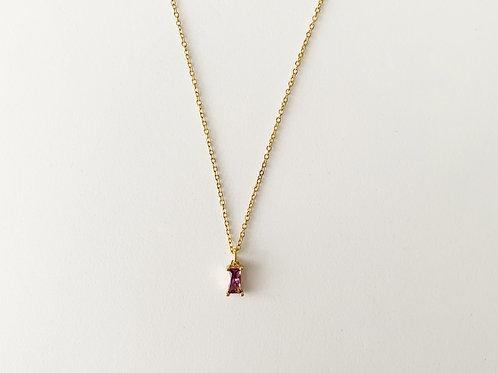 Single light Amethyst pendant - Gold