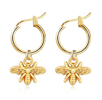 Small Bee Hoops - Gold
