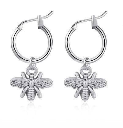 Bee Small Hoop Earrings