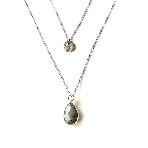 Labradorite Double layer - Silver