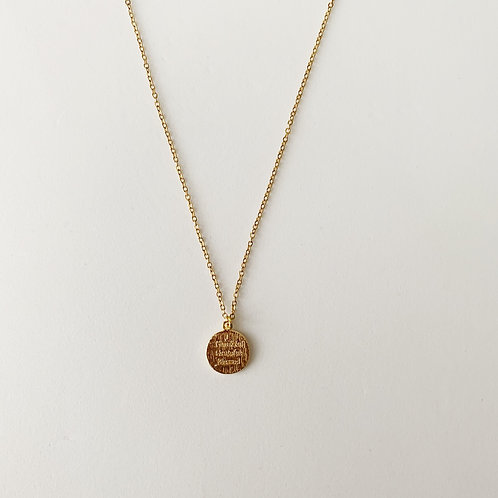 Thankful, blessed and grateful charm necklace