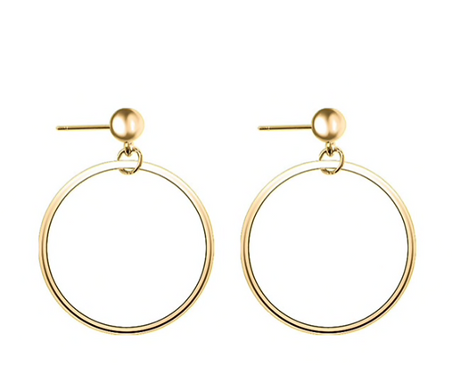 Circle Stud Drop Earrings