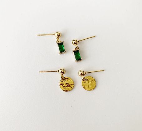 Emerald Double stud -  Gold