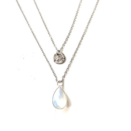 Moonstone Double layer - Silver