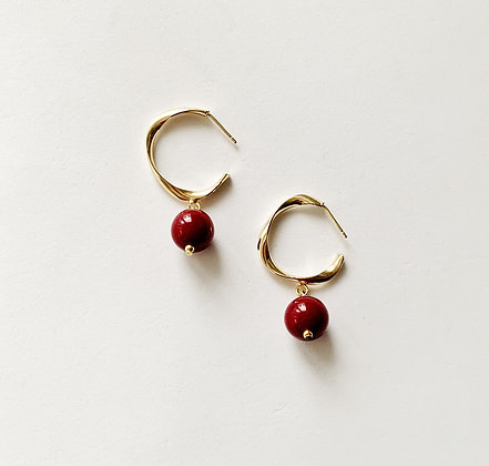 Twisted gold & dark red