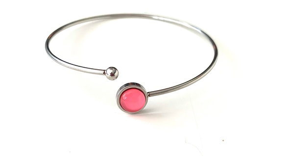 Pink rose - Silver