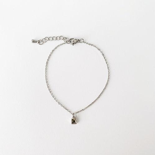 Olivine single bracelet - Silver