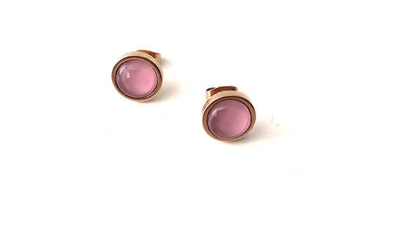 Lilly Rose Studs - Rose gold