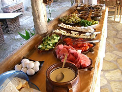 Dalyan Sedir Resort - Our Food, open buffet brekfast, bbq nights, clay oven