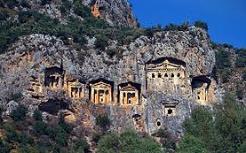 Dalyan Kaunos Iztuzu. Dalyan Rock Tombs: The group of six rock-cut tombs, including the largest, unfinished one have been borne dumb witnesses to the events throughout the past thousands of years.
