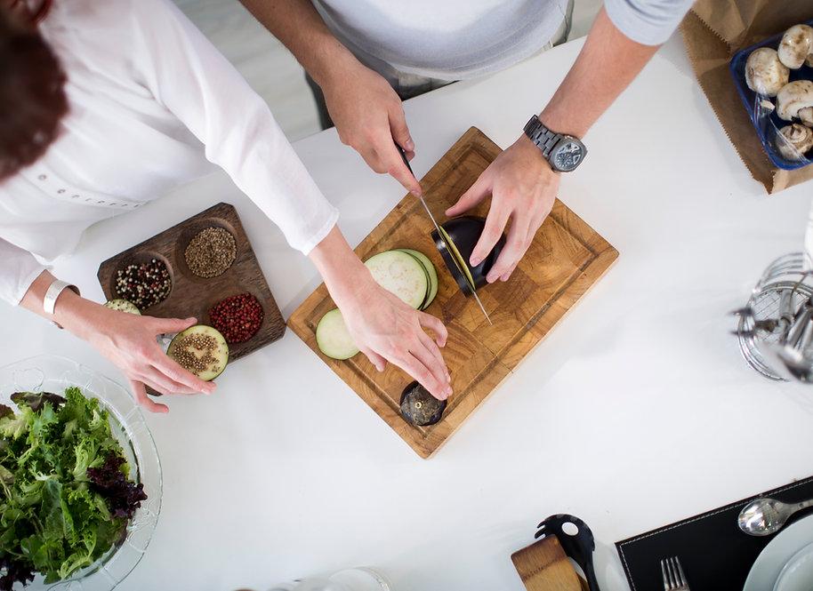 Het voorbereiden van de aubergine