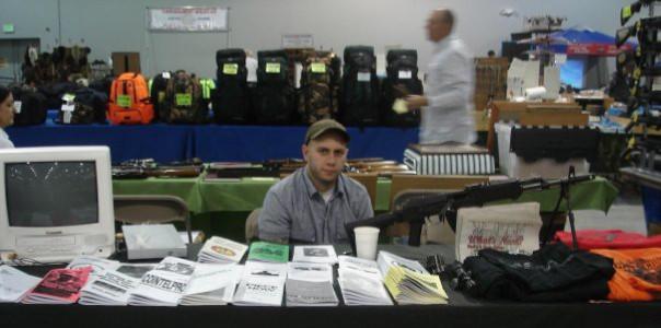 Dave Strano tabling at a gun show in Kansas