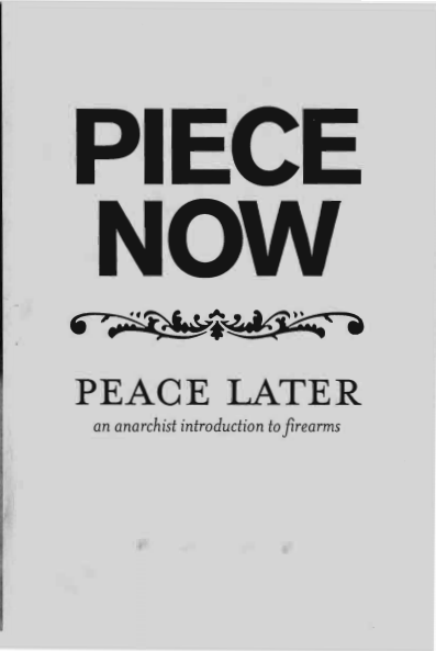 Piece Now, Peace Later