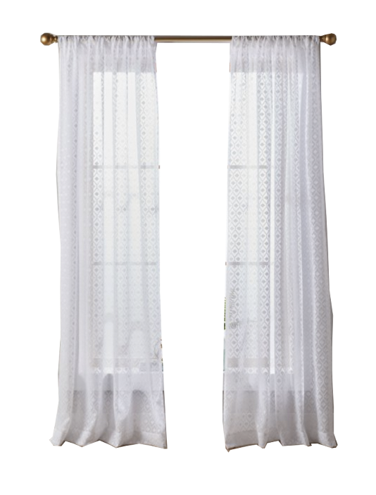 White Sheer Curtains