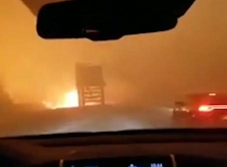Impresionantes incendios forestales en California USA.