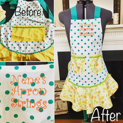 Handmade apron with Monogram