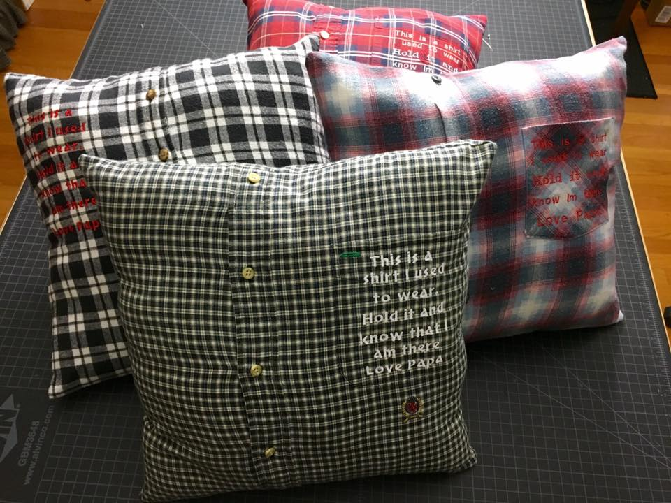 Embroidered Memory Pillows