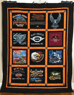 Harley Davidson Tshirt Quilt