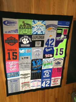 Tshirt quilt without borders