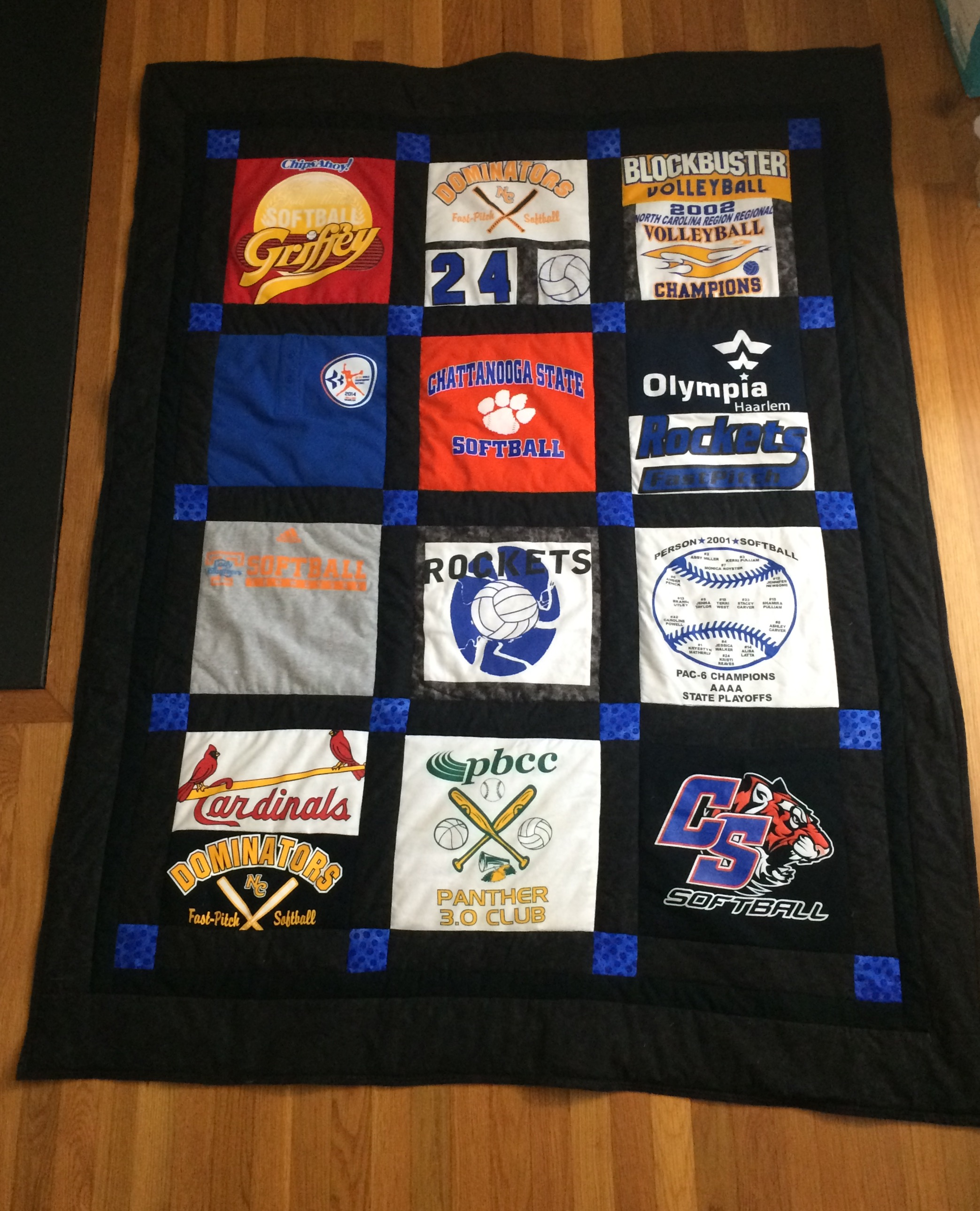 Tshirt Quilt  2 color pattern