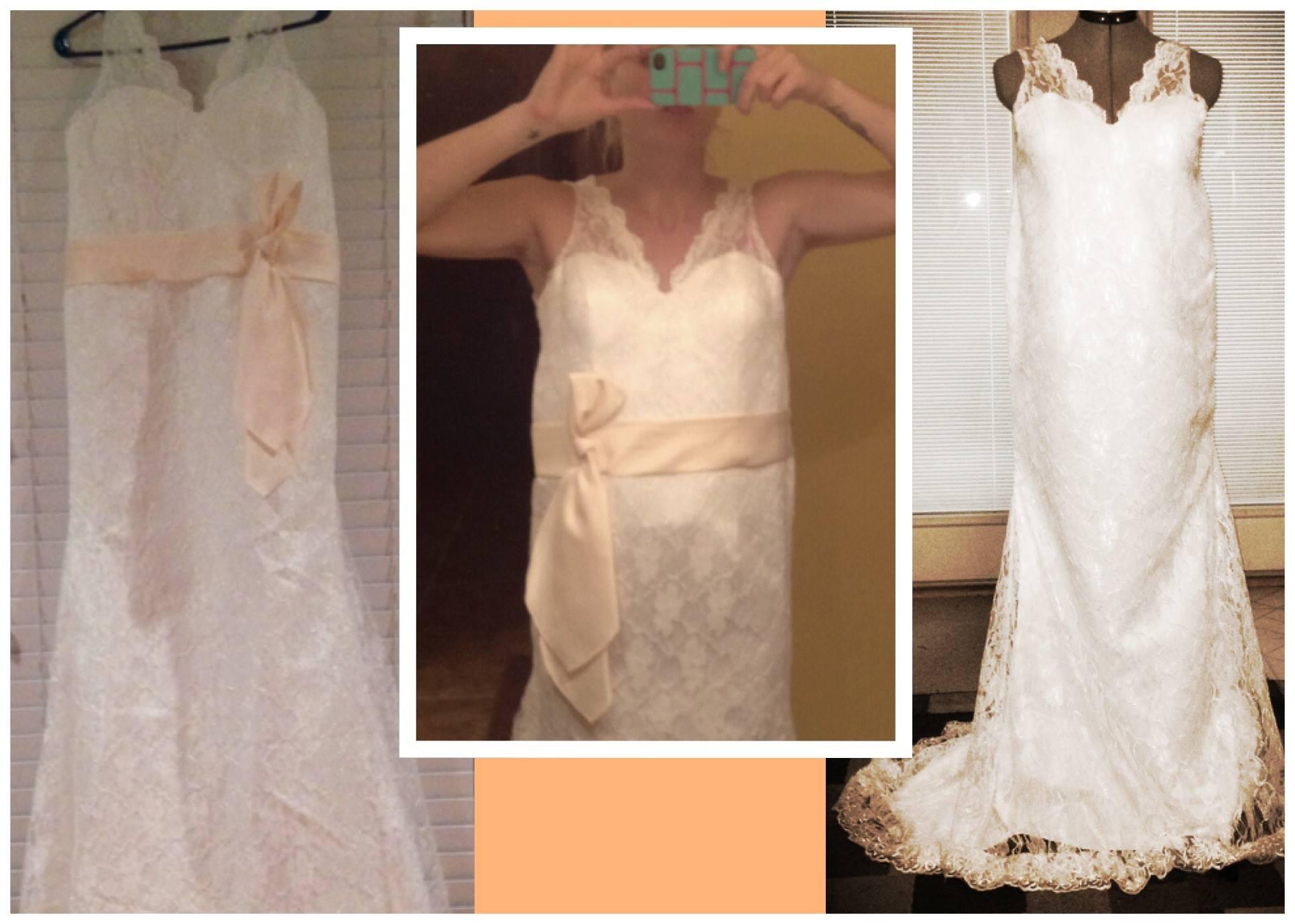 Jessica's wedding dress before