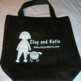 Clay and Katie Tote Bag - Black