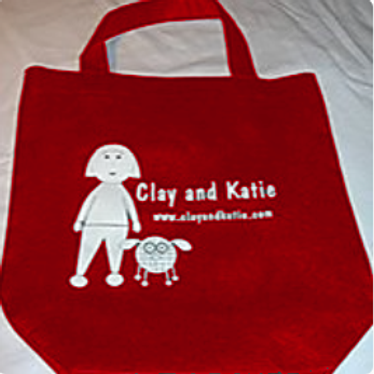 Clay and Katie Tote Bag - Red