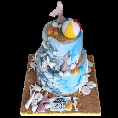 Ocean Themed Cake - Nadine Ali