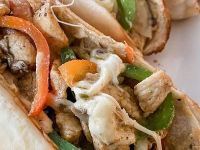 Chicken Cheesesteak Sandwiches