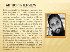 In conversation with Raj Supe- Author of 'When Life Cartwheels'
